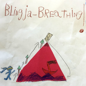Blingja Breathing as seen by a young mindful adventurer.